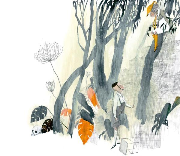 Prinzessin Valentina sitzt in einem Baum und spricht mit weisem Mann