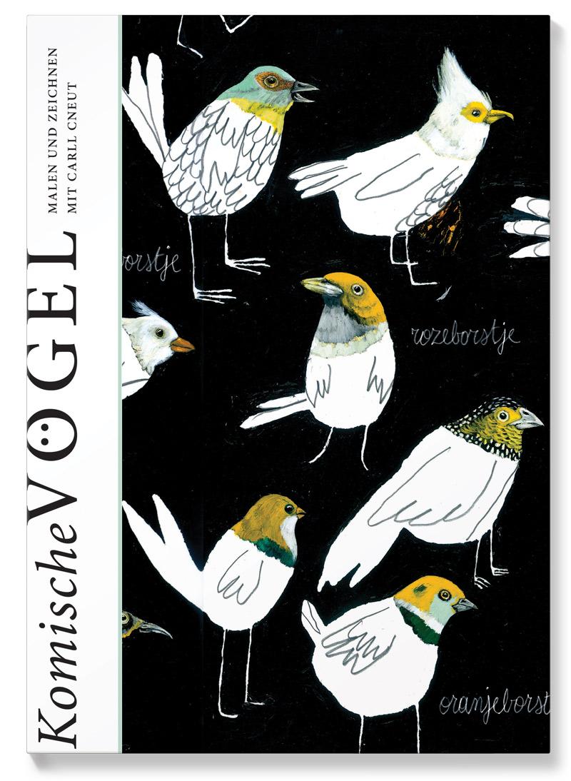 Buchcover zeigt verschiedene Vogelarten zur individuellen und erfinderischen Gestaltung freigegeben
