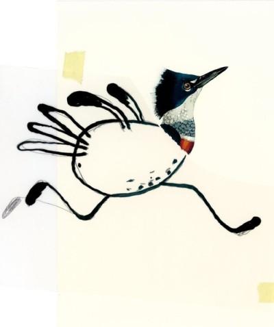 Rennender Vogel zur individuellen und erfinderischen Gestaltung freigegeben