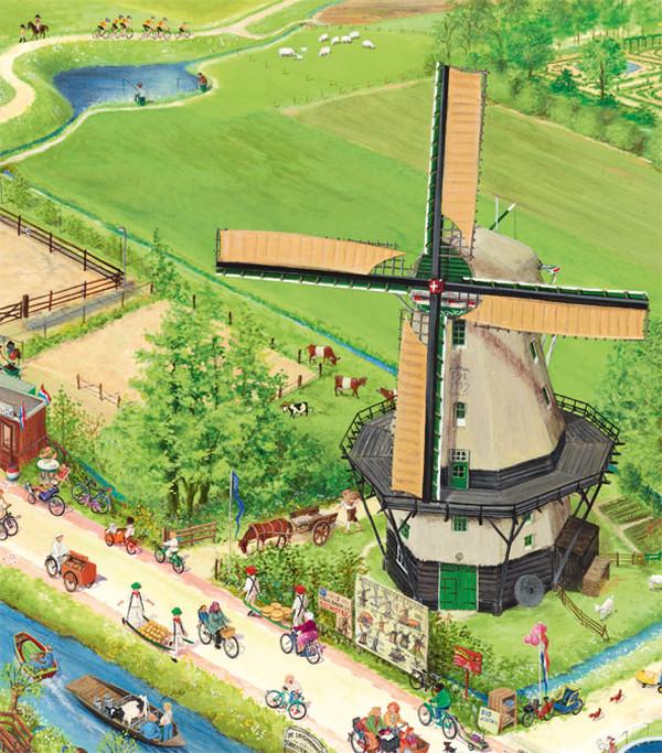 Eine Mühle in den Niederlanden