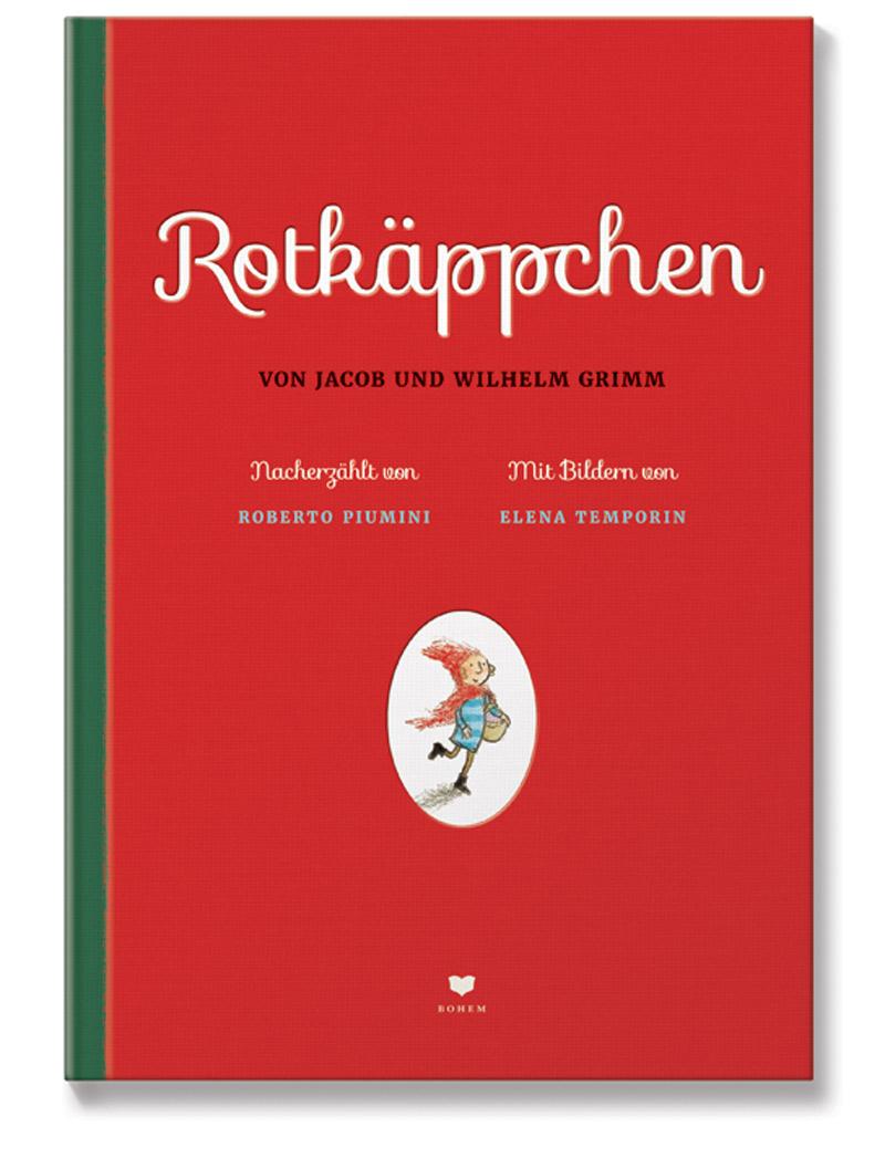Buchcover zeigt fröhliches Mädchen mit roter Mütze und Korb