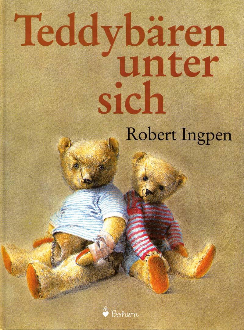 Zwei bekleidete Teddybären sitzen nebeneinander
