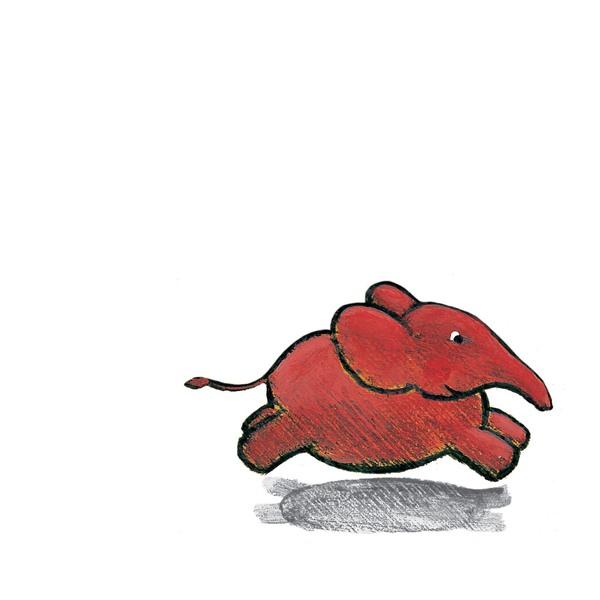 Kleiner rosa Elefant rennt!